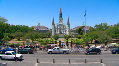 St. Louis Cathedral New Orleans Stock Footage