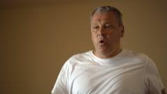 Training on treadmill Stock Footage