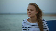 Woman with wistful look Stock Footage