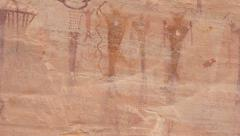 Old Ancient Petroglyphs In Southern Utah. - stock footage