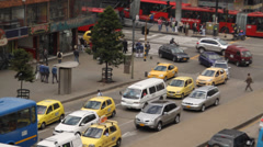 Heavy Traffic Bogota, Colombia - stock footage