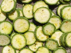 Courgettes zucchini - stock photo