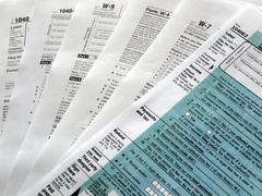 Stock Photo of Tax forms