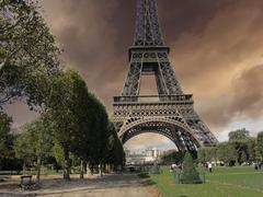 Eiffel Tower Parc du Champs de Mars Kuvituskuvat