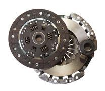 auto parts - automotive engine clutch - stock photo