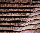Stock Photo of wooden shingle roof