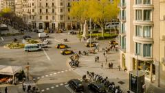 Time lapse Barcelona Stock Footage