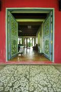 Art work door in city palace Stock Photos