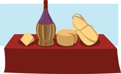Italian food & wine Stock Illustration