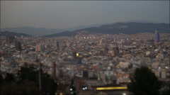 Barcelona Cityscape Timelapse with ShrinkRay effect Stock Footage