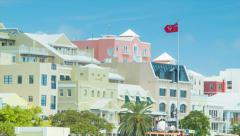 City of Hamilton in Bermuda - stock footage