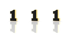 Numbers on a white background Stock Footage