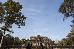 Angkor thom. cambodia Stock Photos
