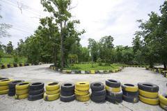 Go cart track in thailand Stock Photos