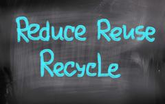 Stock Illustration of reduce reuse recycle concept
