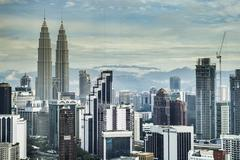 malaysia building top view - stock photo