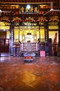 chinese shrine inside - stock photo
