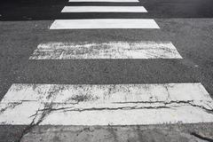 crosswalk on the road - stock photo