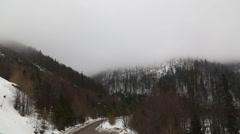 Cloud smoke in Slovakia mountain Jasna Stock Footage
