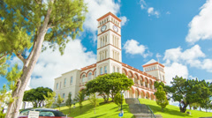 Parliament Building in Hamiltion, Bermuda Stock Footage
