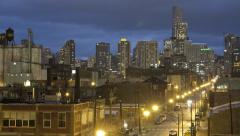 Chicago Time-lapse of the city nighttime Stock Footage