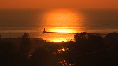 Goderich Ontario sunset Stock Footage