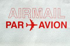 Stock Photo of Airmail