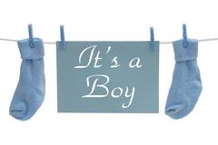 It is a boy announcement Stock Illustration