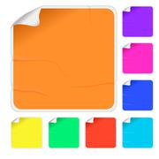 Empty color stickers - stock illustration