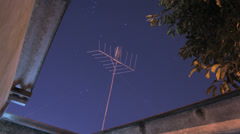 Night sky time lapse -  TV antenna - Timelapse 4K Stock Footage