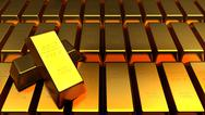 Stock Illustration of Set of gold bars isolated for adv or others purpose use