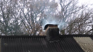 Stock Video Footage of Cottage chimney