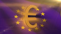 Euro symbol. Stock Footage