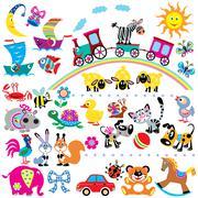 Stock Illustration of set for kids