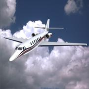 Cessna sovereign private jet 3D Model