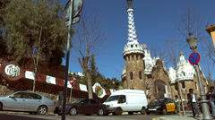 Stock Video Footage of Parc Guell in the city of Barcelona.