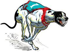 Stock Illustration of greyhound racing dog