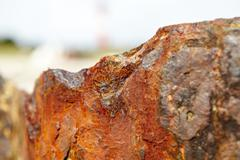 Rusty groin on the german island Sylt. - stock photo