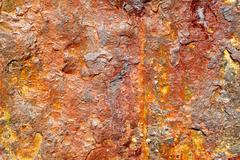 Rust and oxidation seen near to the salt water of the North Sea - stock photo