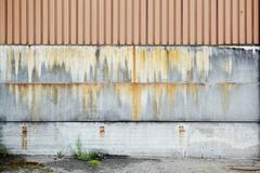 A wall with a nice, rusty color gradient Stock Photos