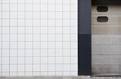 Glazed tiles in an urban neighborhood Stock Photos