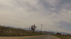 Desert Drive - stock footage