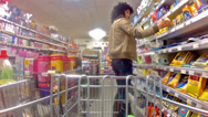 Stock Video Footage of trolley in a supermarket timelapse