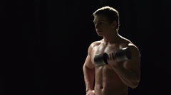 Sexy Bodybuilder Stock Footage