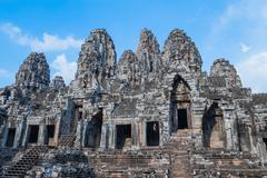 Ancient Bayon Temple Stock Photos