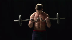 How to Do Weightlifting Stock Footage