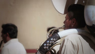Stock Video Footage of Mexican musician playing trombone
