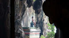 Kuala Lumpur Batu Caves Limestone Hindu Hindus Temple Malaysia Asia - stock footage