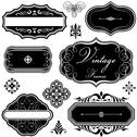 Stock Illustration of Fancy Vintage Frames and Ornaments