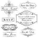 Stock Illustration of Invitation Set